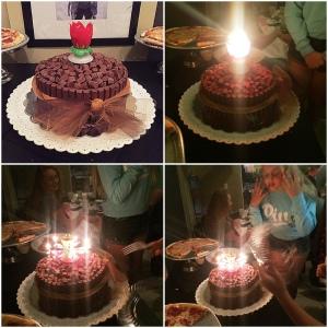 amya cake with cande