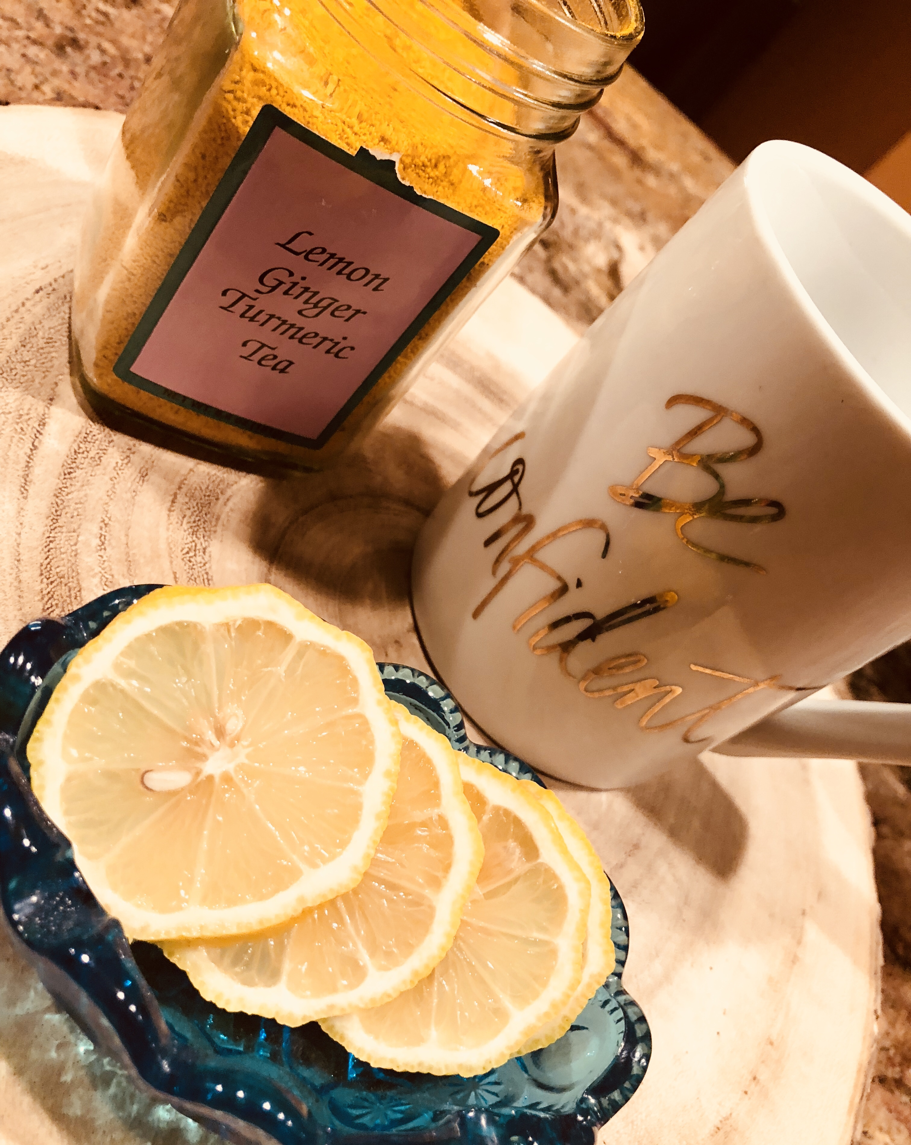 Lemon Ginger Turmeric Tea – cjBlue Creative Studios
